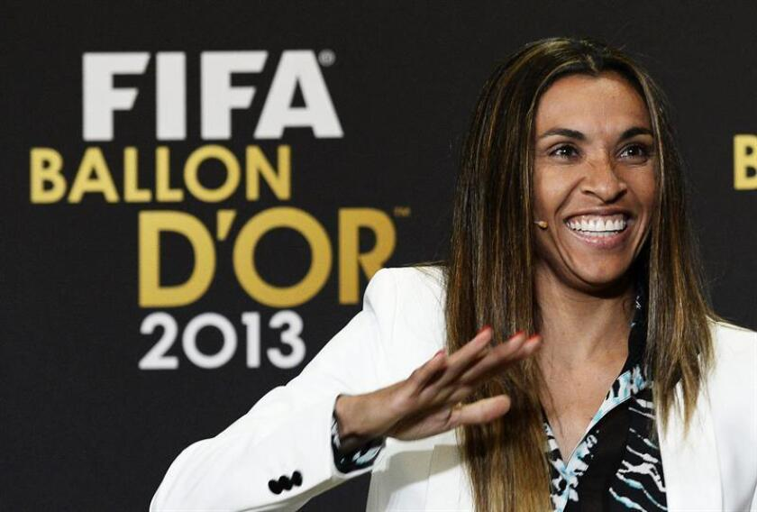 En la imagen, la futbolista brasileña Marta Vieira da Silva. EFE/Archivo