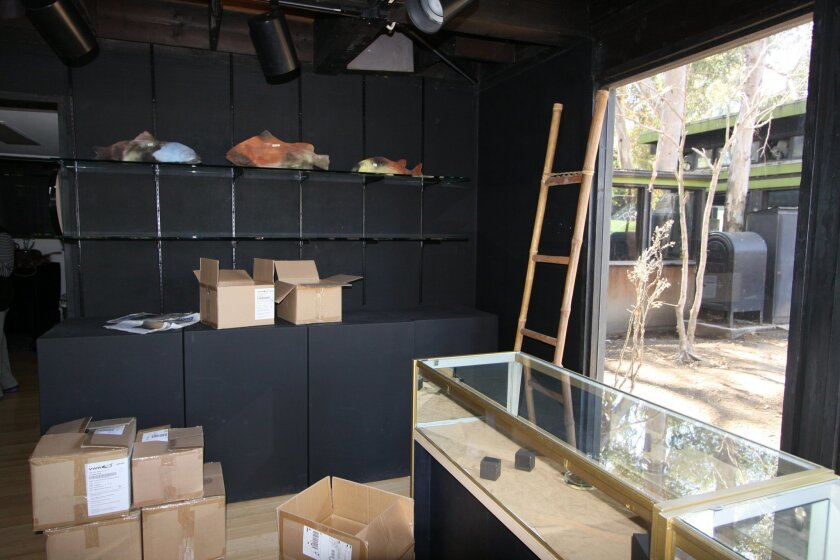 the front space of the UCSD Crafts Center is packed up when it closed Sept. 26. Ashley Mackin
