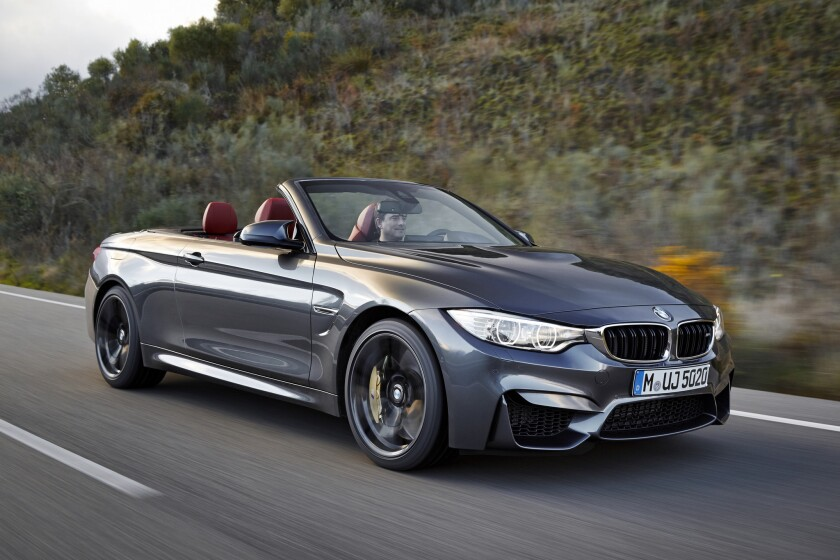 BMW will debut the 2015 M4 convertible at the New York Auto Show later this month. Mechanically identical to the M3 sedan and M4 coupe, the convertible has 425 horsepower can do zero-60 mph in 4.2 seconds.