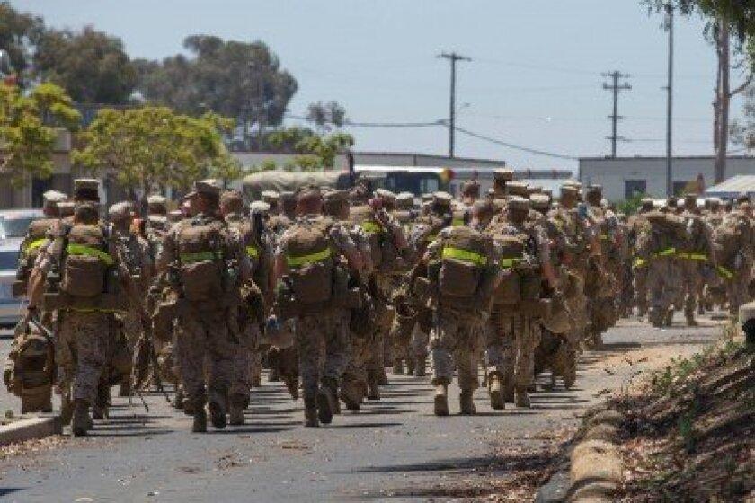 Camp Pendleton, Calif. May 16, 2014. Base evacuations. U.S. Marine Corps Photo by Sgt. Derrick K. Irions