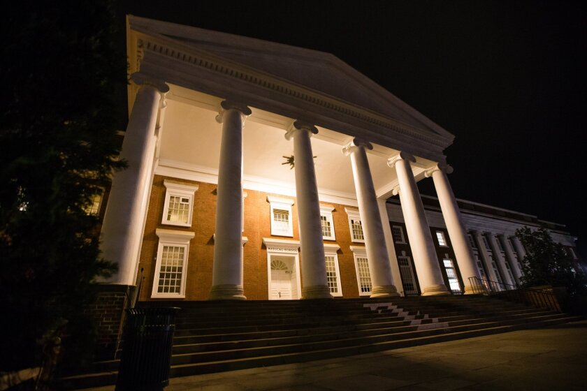 The University of Virginia in Charlottesville.