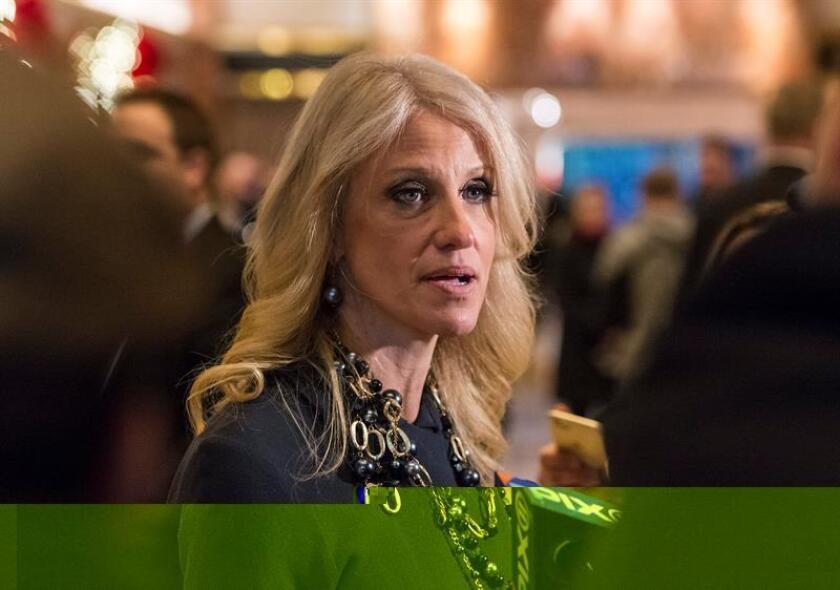 El presidente electo, Donald Trump, nombró hoy a Kellyanne Conway, su directora de campaña durante el ciclo electoral, como consejera presidencial, anunció el futuro mandatario en un comunicado. EFE/ARCHIVO