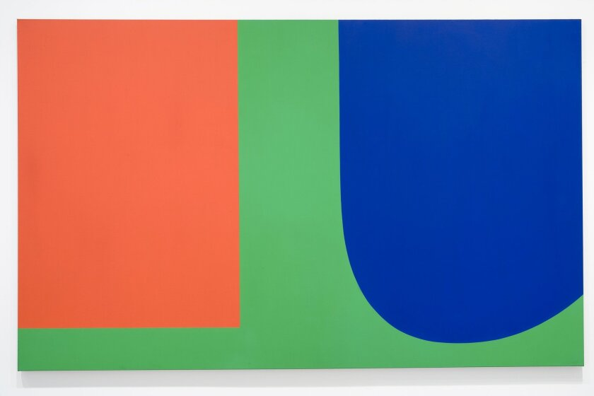Ellsworth Kelly, Red Blue Green, 1963. Oil on canvas, part of the Museum of Contemporary Art