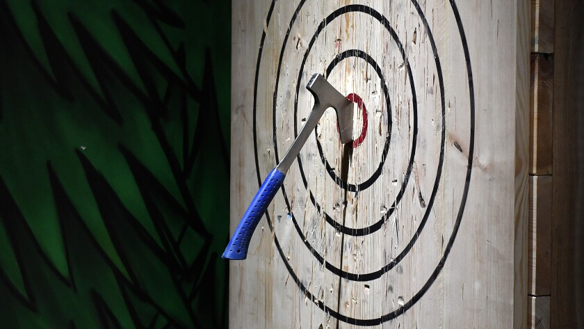 Chops and Hops Axe Throwing Lodge in Fort Lauderdale