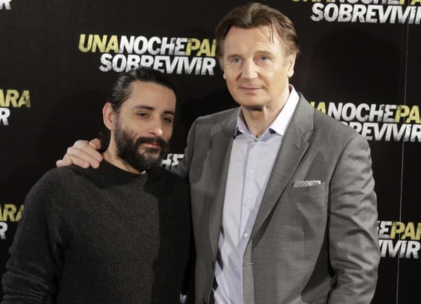 Fotografía del director catalán Jaume Collet-Serra (i), y el actor Liam Neeson (d). EFE/ARCHIVO