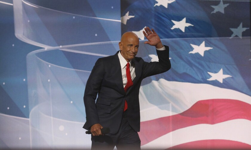 Tom Barrack, CEO of Colony Capital, appears at the Republican National Convention in 2016.