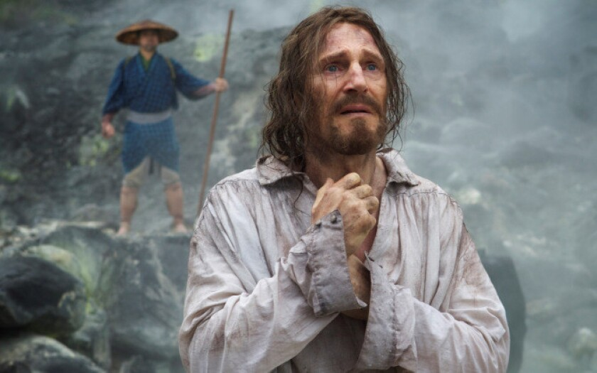 """A scene from Martin Scorsese's upcoming film, """"Silence,"""" shows Liam Neeson."""
