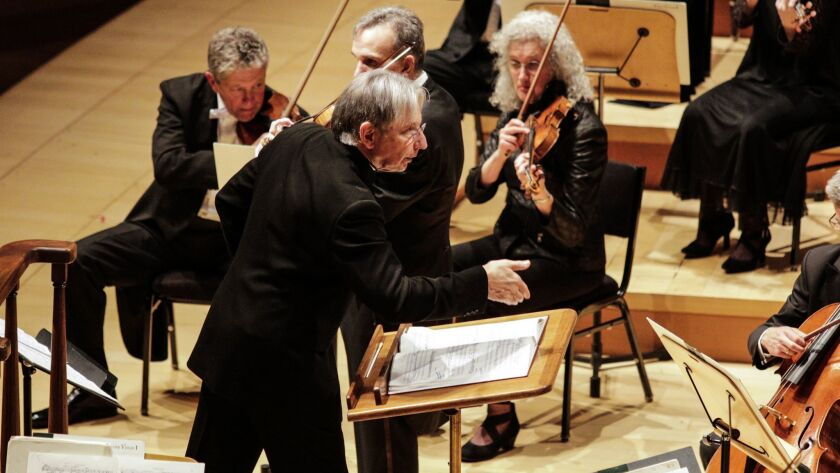 LOS ANGELES, CA--MARCH 27, 2018: San Francisco Symphony music director Michael Tilson Thomas is tour