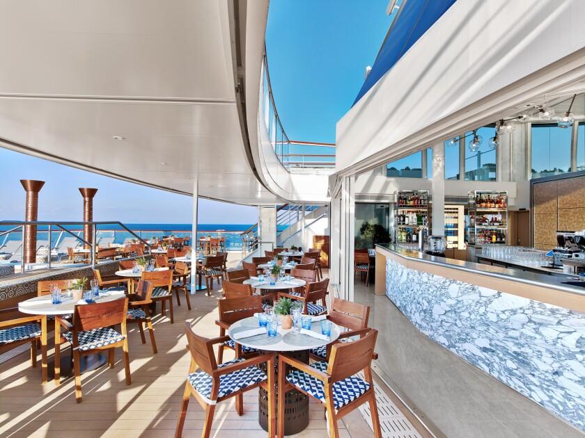 Word Café onboard a Viking Ocean Cruises ship.
