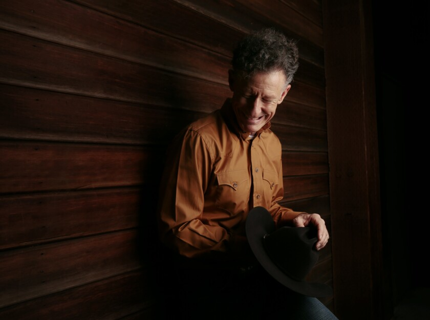 """Lyle Lovett's attention to detail, and his new role as design consultant, led him on a sideways path to the part of attorney Monte P. Flagman on AMC's series """"The Bridge."""""""