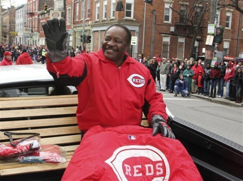 Cincinnati Reds hall of fame second baseman Joe Morgan waves to the crowd during the annual Findlay Market Opening Day parade, Thursday, March 31, 2011 in Cincinnati. Morgan was grand marshal in the parade. The Reds hosts the Milwaukee Brewers on Thursday, to open their Major League Baseball season
