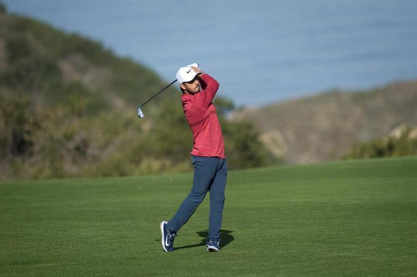 En la imagen, el golfista mexicano Abraham Ancer. EFE/Archivo