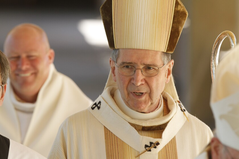 Appointed archbishop in 1985, Roger M. Mahony retired in 2011. He issued a statement of apology to abuse victims Monday