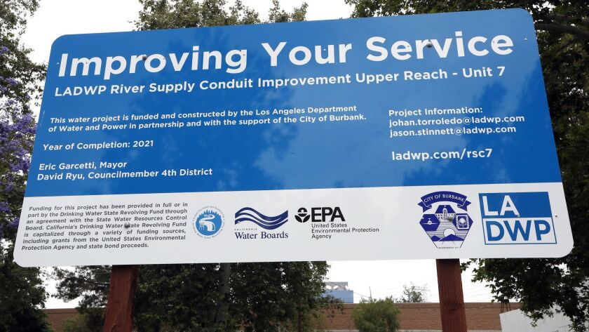 LA DWP construction site in Buena Vista Park in Burbank. Photographed on June 20, 2019.