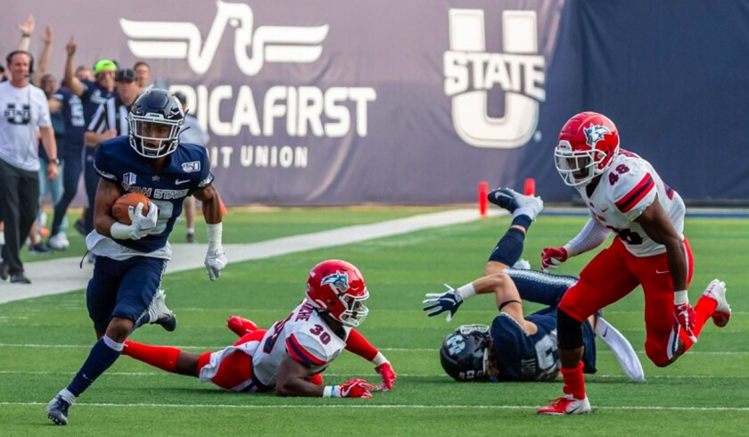 San Diego State opens Mountain West play on Saturday night when it plays host to Utah State, which has one of the nation's most explosive offenses.