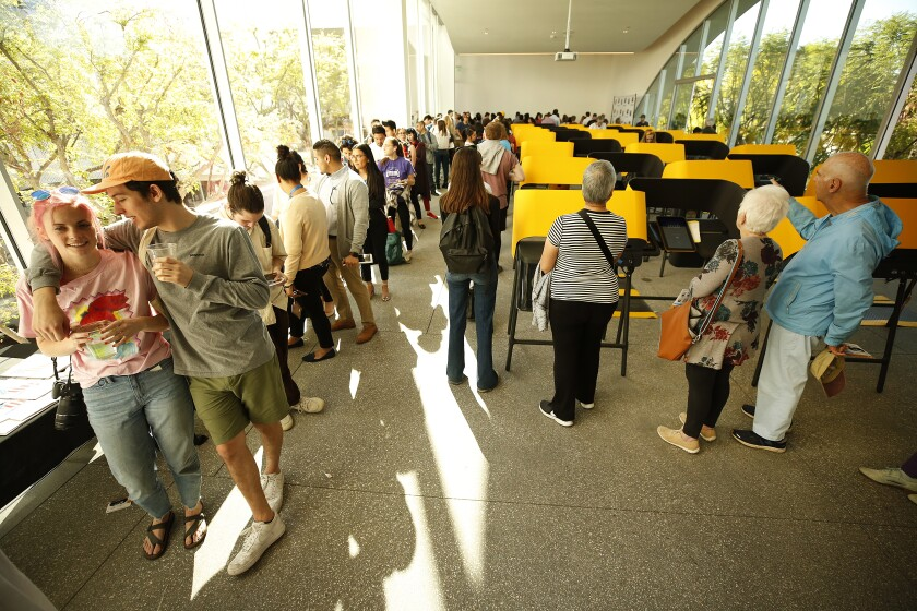 Voters waiting in line in Los Angeles