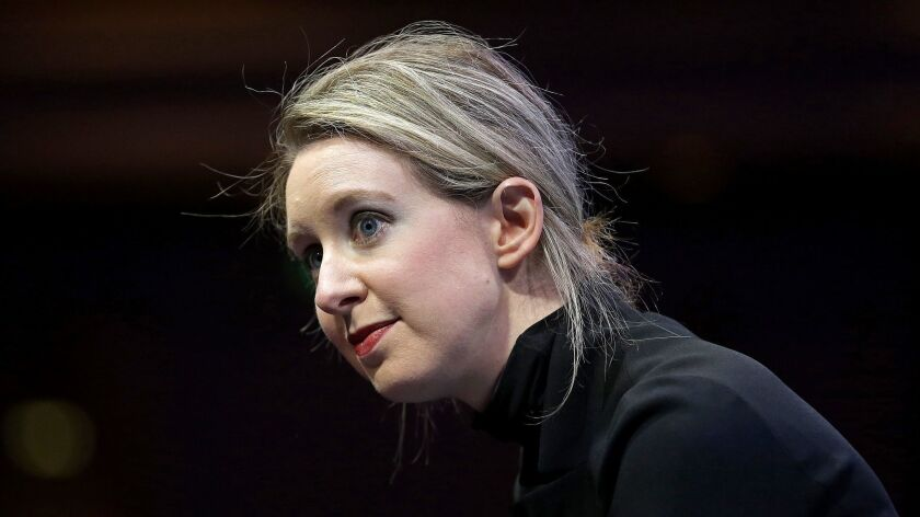 Elizabeth Holmes, founder and chief executive of Theranos, speaks at the Fortune Global Forum in San Francisco in 2015.