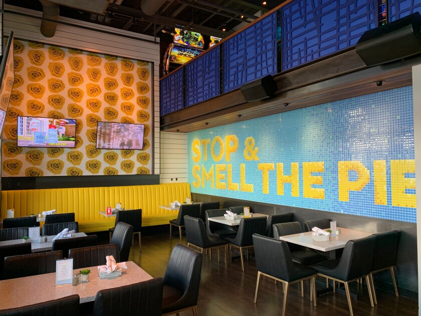 The interior of Pacific Social