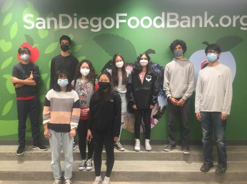 Canyon Crest Academy Junior Optimists at the San Diego Food Bank.