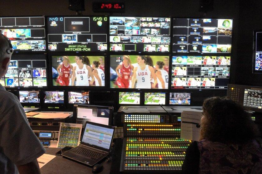 NBC Control Room for Rio Olympics