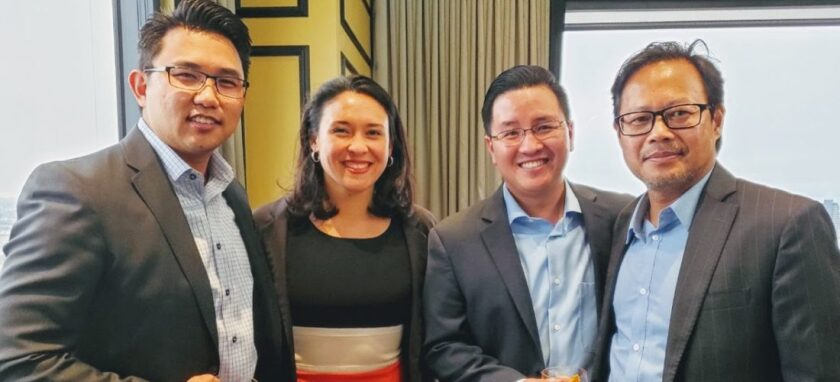 Elvin Lai, Asian Business Association San Diego (ABASD) board member; Lauren Grattan, Mission Driven Finance co-founder; Kent Lee, ABASD board member; and Louie Nguyen, chief investment officer of Mission Driven Finance.