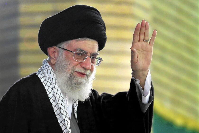 """Ayatollah Ali Khamenei said in a that """"I would go along with the agreement in the making,"""" the official Islamic Republic News Agency reported."""