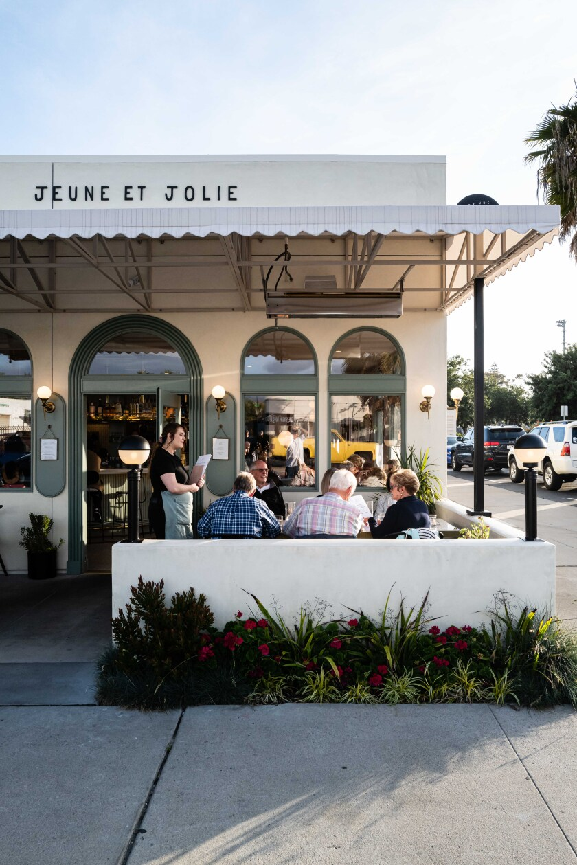 With its contemporary nouvelle French cuisine, Jeune et Jolie is leading Carslbad's burgeoning dining scene.