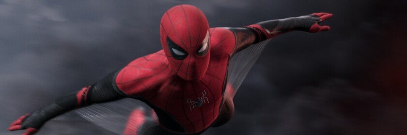 "Tom Holland stars as Spider-Man in ""Spider-Man: Far From Home."""