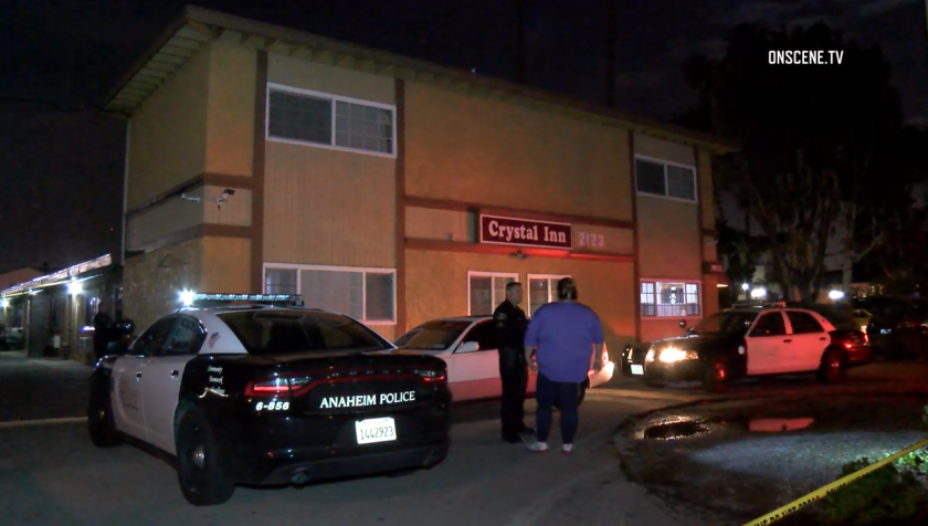 The shooting occurred about 7:30 p.m. at the Crystal Inn along West Lincoln Avenue in Anaheim, police said.