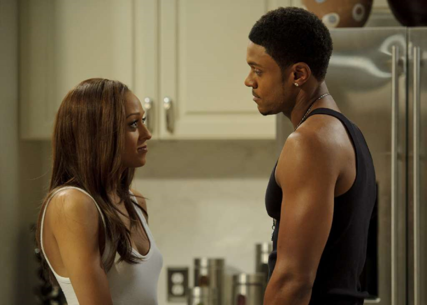 Tia Mowry-Hardrict and Pooch Hall