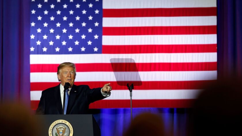 President Donald Trump speaks in Indiana on Wed., Sept. 27, 2017.