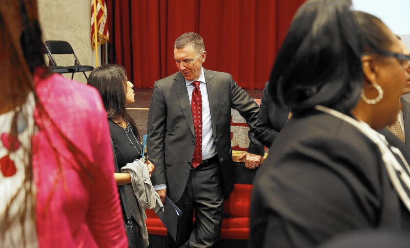 """Supt. John E. Deasy says he and the L.A. Unified Board are no longer """"united on the same mission and in the same way to accomplish this mission as when we started."""""""