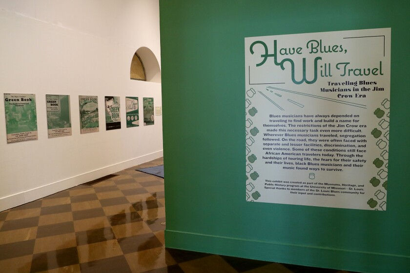"""The indoor art exhibition """"Have Blues, Will Travel"""" will open on July 24 at Fullerton Museum Center"""