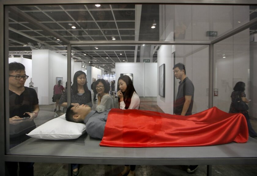 "He Xiangyu, ""My Fantasy,"" at the Art Basel Hong Kong art fair."