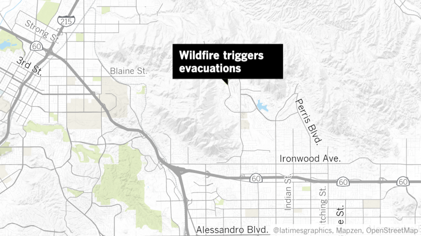 Wildfire that triggered evacuations in Riverside now 30 ... on