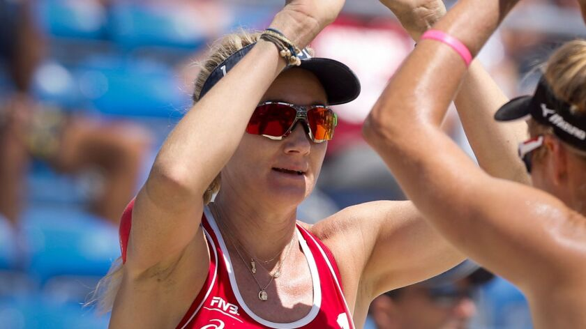 Beach volleyball players Kerri Walsh Jennings, shown, and Casey Jennings have paid $2.6 million for a custom home in Manhattan Beach.