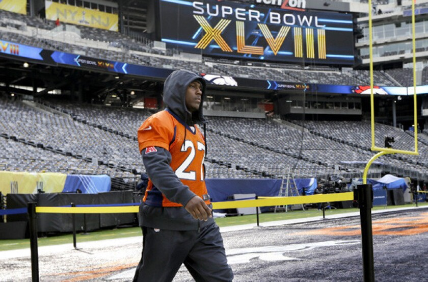 When Broncos running back Knowshon Moreno and his teammates take the field at MetLife Stadium in Super Bowl XLVIII against the Seahawks, it will mark another championship game when L.A. has no team in the NFL.