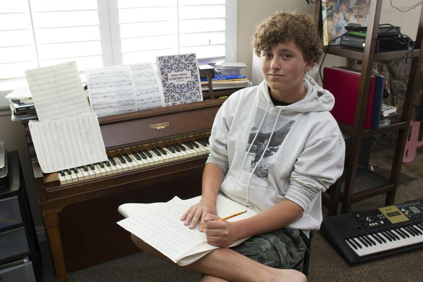 Teen works his way into 'major leagues' of music - Los