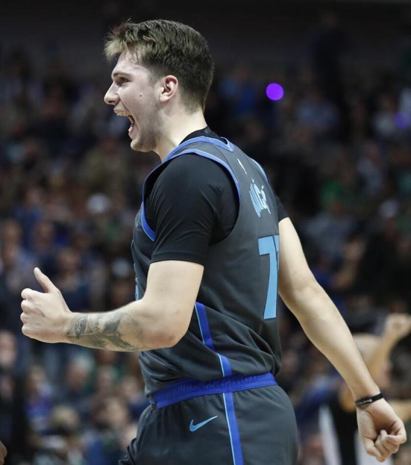 Luka Doncic, jugador de los Mavericks de Dallas. EFE/Archivo