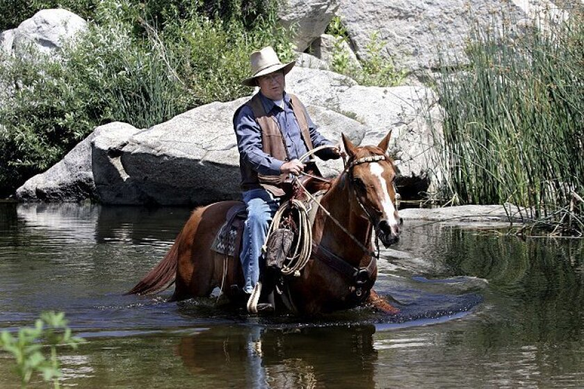 Bob Manns takes Magic, a 42-year-old Arabian horse, on a 10-mile ride every weekend around the Santa Margarita River Trail. Magic is older than most horses live to be, yet she is more active and in better health than many horses half her age.