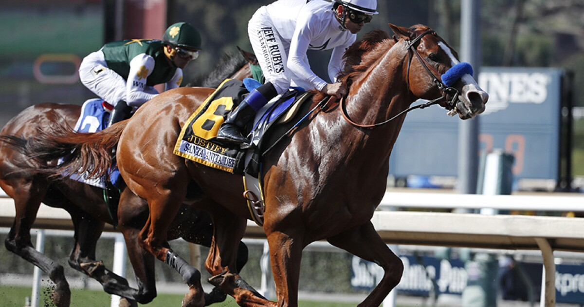 Justify Failed Drug Test Because Of Contaminated Feed California Racing Board Says Los Angeles Times