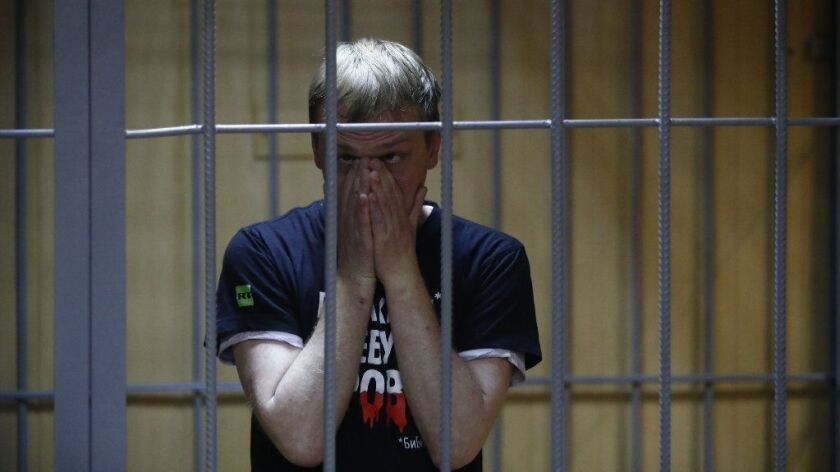 Meduza news project journalist Ivan Golunov trial in Moscow, Russian Federation - 08 Jun 2019