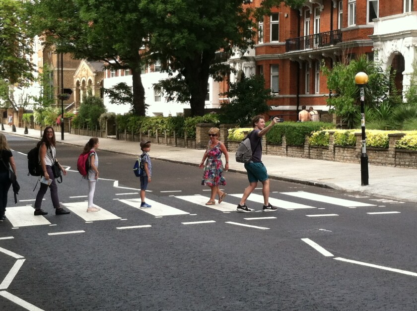 The Abbey Road crosswalk