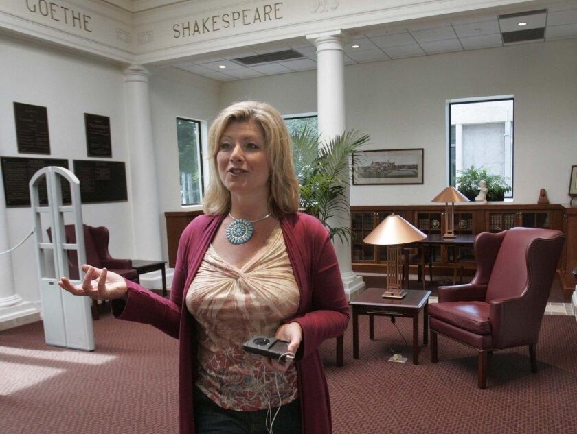 Diane Alexander, a professional soprano, also works at Coronado's library.