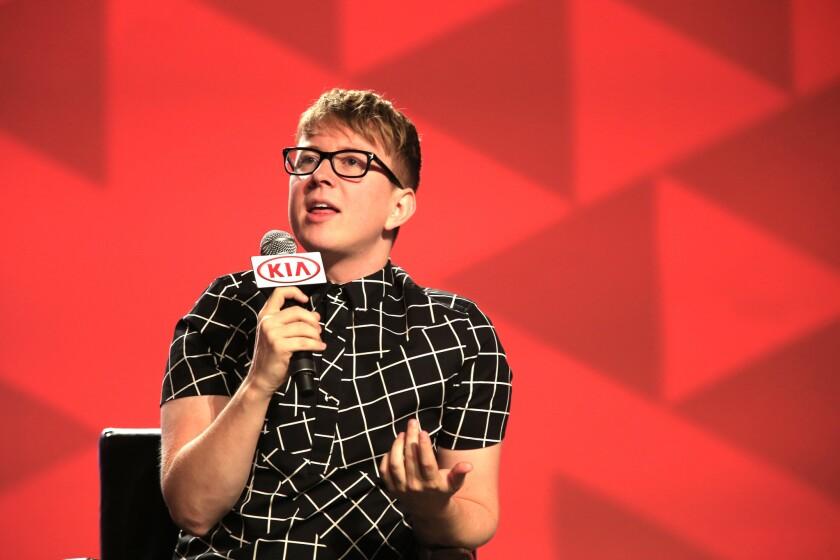 Tyler Oakley at VidCon in 2014.