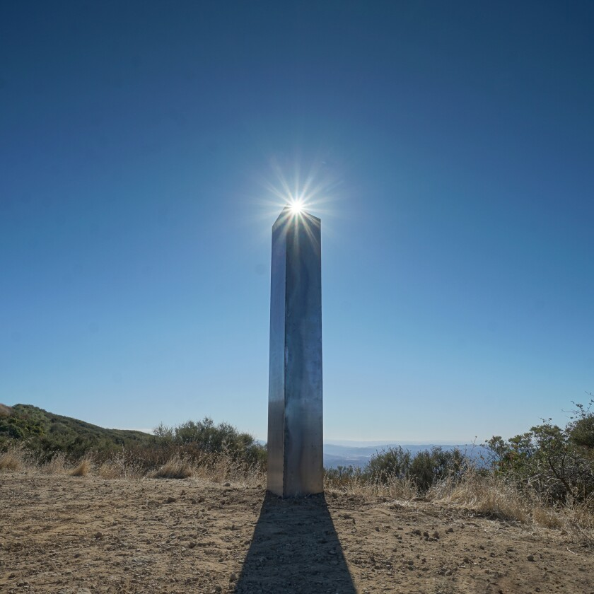 Another unusual monolith has popped up in San Luis Obispo County.