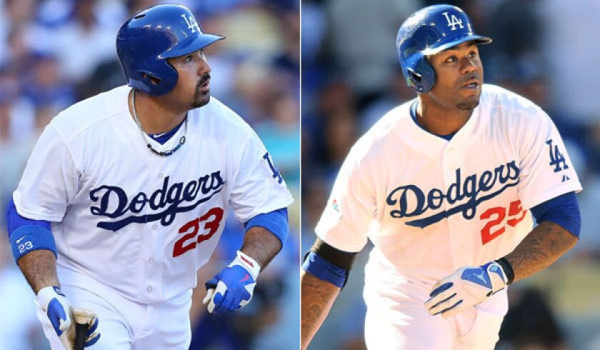 Dodgers' Adrian Gonzalez and Carl Crawford still on menu in Boston