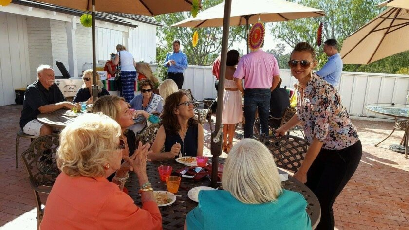 A recent Summer Gathering at the Country Friends patio.