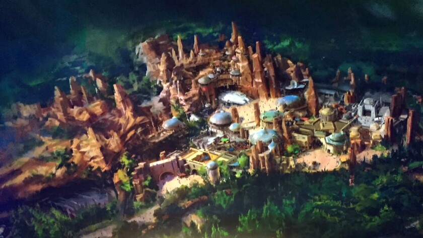 "Concept art of ""Star Wars"" land."