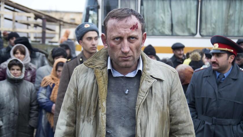 "Lernik Harutyunyan in the film ""Spitak."""